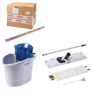 "VILEDA / Cleaning set ""UltraSpeedMini"": holder, MOP 602119, handle, bucket with extraction, dispenser"