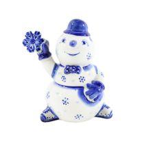 The sculpture Snowman with snowflake 1st grade, Gzhel Porcelain factory