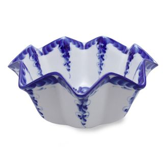 Bowl Lotus is a small 2nd grade, Gzhel Porcelain factory