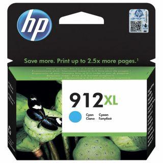HP Inkjet Cartridge (3YL81A) for HP OfficeJet Pro 8023 # 912XL Cyan, 825-page Yield, Original