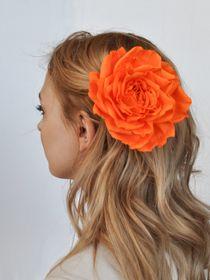 Brooch hairpin Rose orange