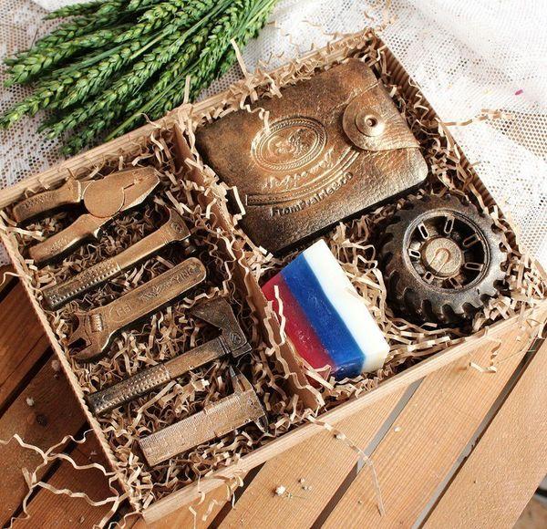 Set of men's handmade soap
