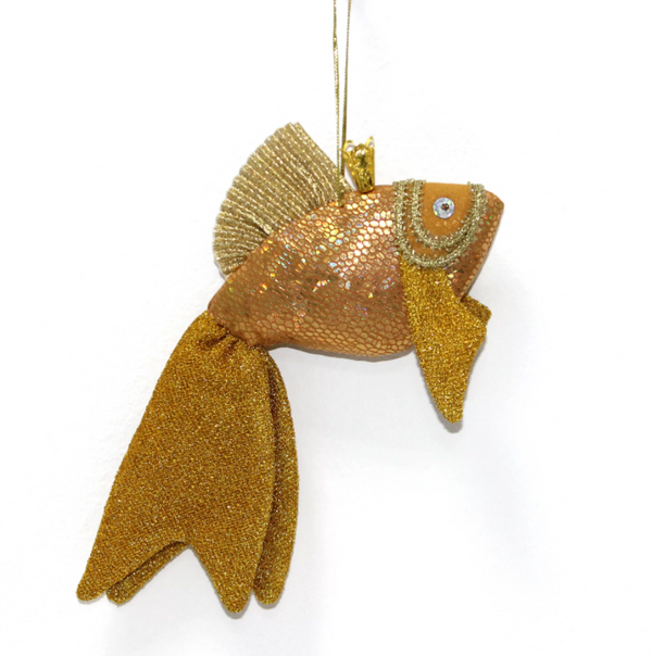 Matryoshka Factory / Christmas tree decoration Goldfish, 20 cm (with tail)