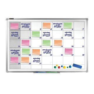 Planing board FOR A MONTH magnetic marker (60x90 cm), aluminum frame, BRAUBERG