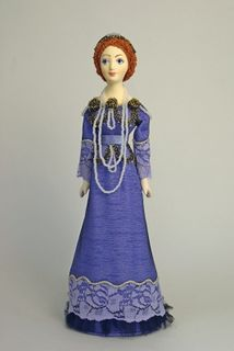 Women's evening suit. Saint Petersburg, Russia, early 20th century. Doll gift