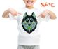 Children's t-shirt with special effects HUSKY