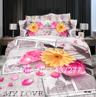 Satin bed linen 3D newspaper