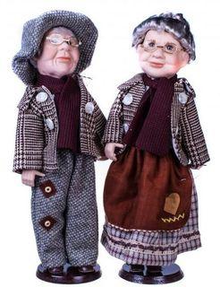 "Dolls porcelain ""Grandma and grandpa"""