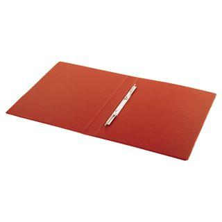 Folder with metal spring binder BRAUBERG, cardboard/PVC, 35 mm, red, up to 290 sheets