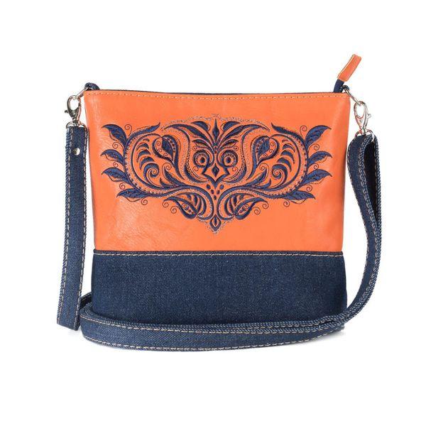 Bag denim Indigo blue with silk embroidery