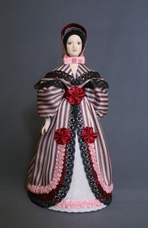 Doll gift porcelain. The urban secular costume. The middle of the 19th century. France
