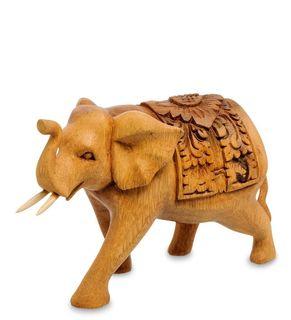 Figurine wooden Elephant 13 cm
