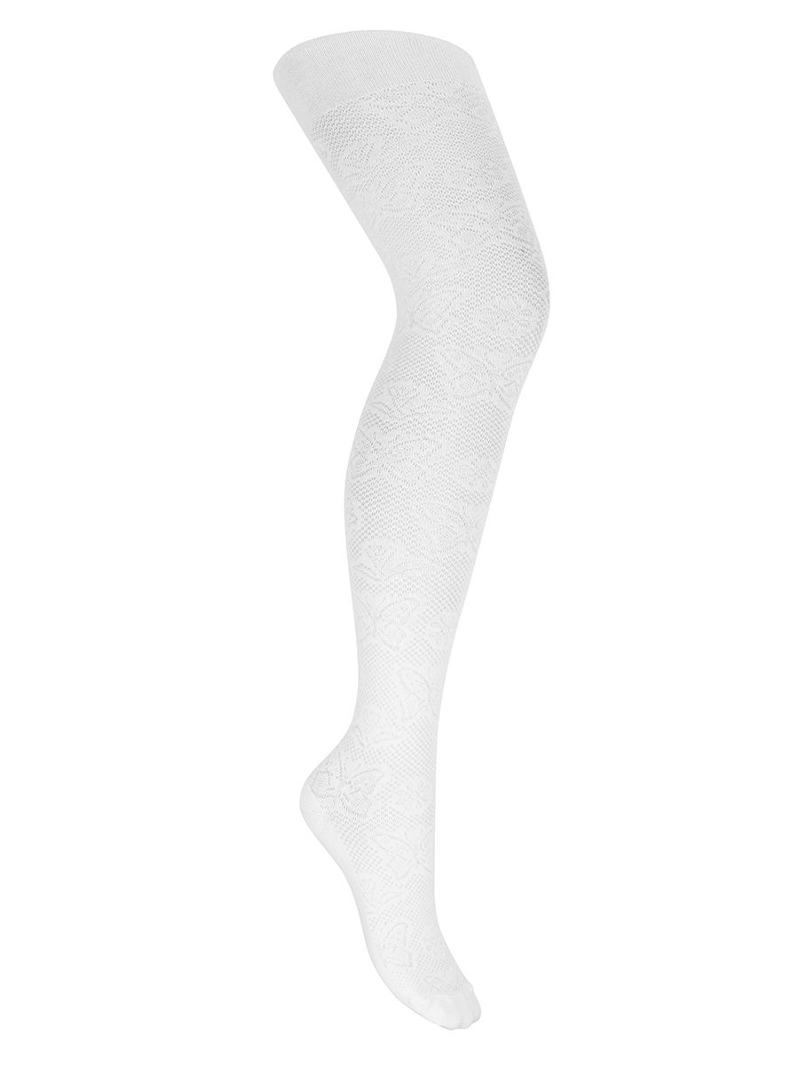 "Tights openwork ""Butterfly summer"" white"