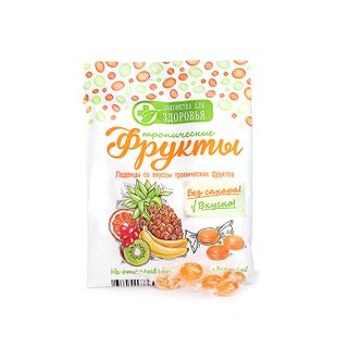 Caramel candy without sugar on isomalt with multifruit flavor, 50 g