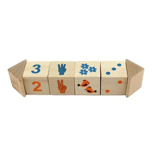 "Pelsi / Cubes on the ""Counting"" axis, 4 pieces"
