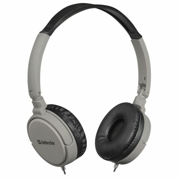 DEFENDER / Headphones with microphone (headset) Accord 160, wired, 1.2 m, with headband, black and gray