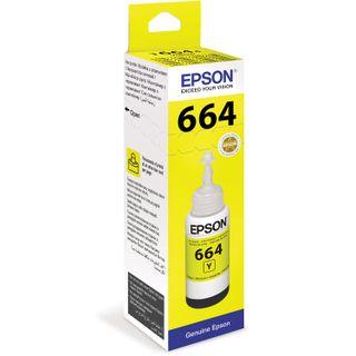EPSON ink (C13T66444A) for Epson L100 / L110 / L200 / L210 / L300 / L456 / L550, yellow, original