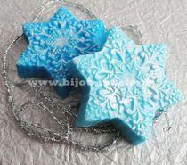Snowflake blue - handmade soap gift