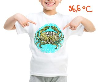 Children's t-shirt with special effects CRAB