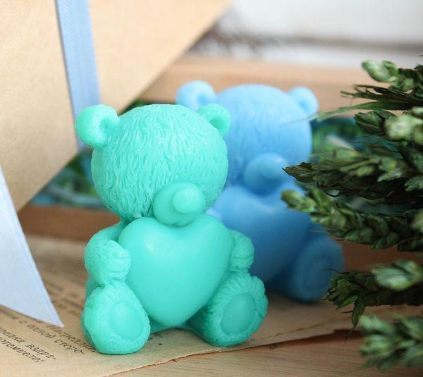 Teddy Bears - handmade olive soap set in a box