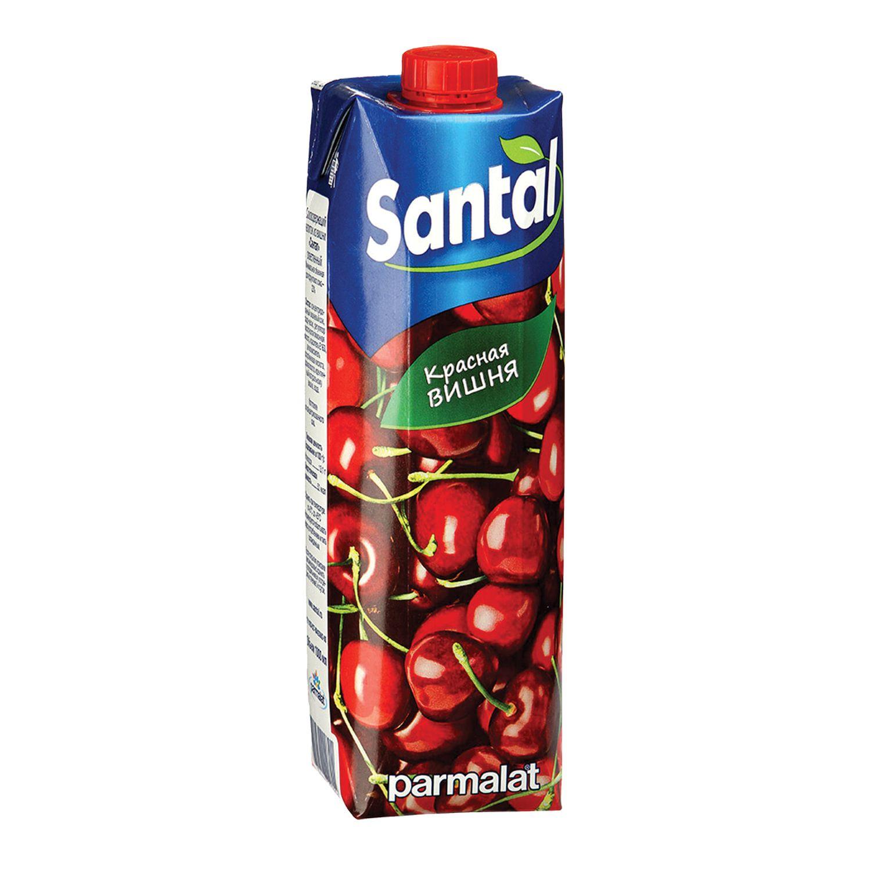 SANTAL / Red cherry juice drink, tetra-pack 1 l