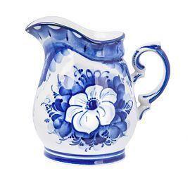 "The milkman enchantress ""White flower"" original painting, Gzhel Porcelain factory"