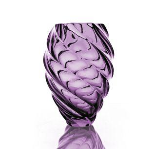 "Crystal vase for flowers ""Caramel"" light purple"