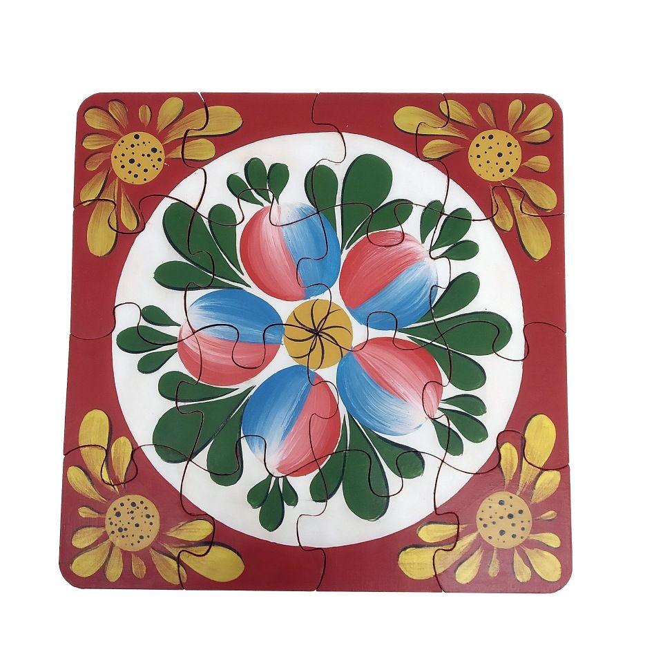 """Volkhov painting / Souvenir puzzles """"Petal rosette"""" hand-painted"""