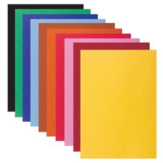 Colored paper, SMALL FORMAT, A5, VELVET, 10 sheets, 10 colors, 110 g/m2, INLANDIA