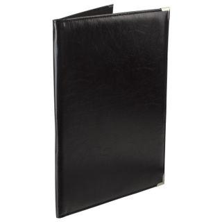Folder address of the leatherette without inscription, A4, 33х25х2 cm, black