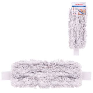 LIME / MOP attachment flat for mop / holder 40 cm, ears / pockets (TYPE U / C), cotton