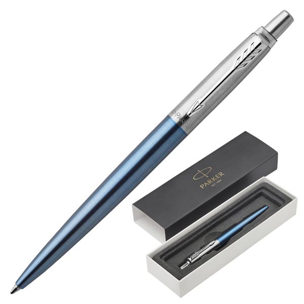 Ballpoint pen PARKER 'Jotter Core CT Waterloo Blue', body blue, chrome, blue
