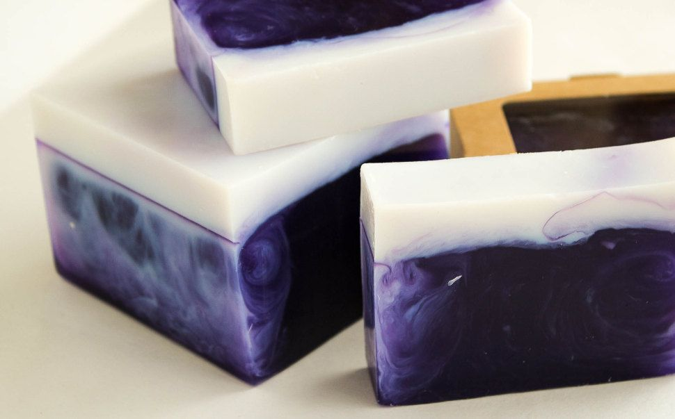 Black currant-Almond bar 0.9 kg - handmade soap