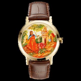 "Palekh watch ""Scarlet Flower №53"