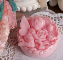 Pink Flower fairy handmade soap