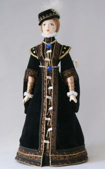 Doll gift. Women's court dress. Mid-16th century. Spain.