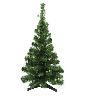 "MOROZCO / Artificial spruce ""Decorative"" 50 cm, green with golden stars"