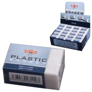 Eraser KOH-I-NOOR, 30х18х12 mm, white, rectangular, PVC