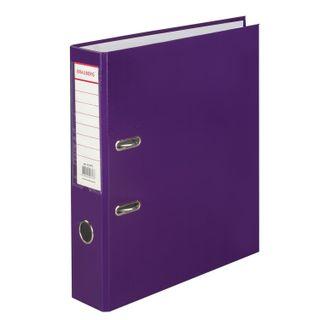 Folder-Registrar BRAUBERG, laminated, 80mm, purple