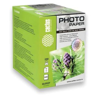 Photo paper for inkjet print 10 x 15 cm, 230 g/m2, 500 sheets, one-way. glossy, CACTUS