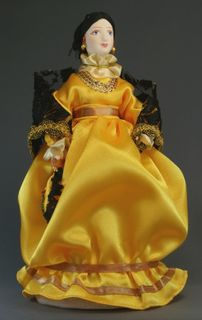 Doll gift porcelain. The merchant's wife. Late 19th - early 20th century. Russia.