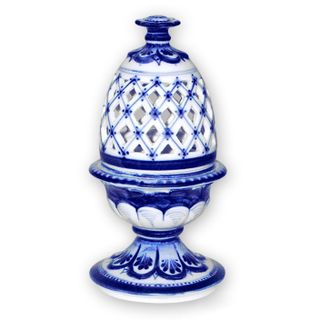 """Stand under the egg """"Openwork"""", Gzhel Porcelain factory"""