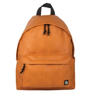 Backpack BRAUBERG universal, city size, brown, leatherette,
