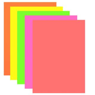 Colored paper A4 TINTED, 10 sheets 5 colors (neon), BRAUBERG, 210x297 mm