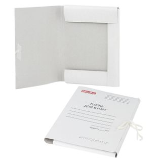 A paper folder with ties, cardboard, coated FISMA, guaranteed density 320 g/m2 up to 200 sheets
