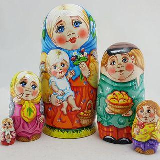 Matryoshka author Tatiana Morozova 5 dolls