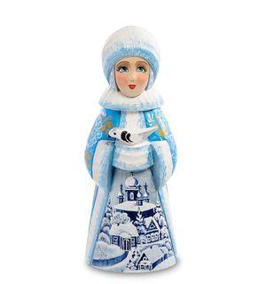 """Wooden figurine """"snow maiden with clutch"""" 18 cm"""