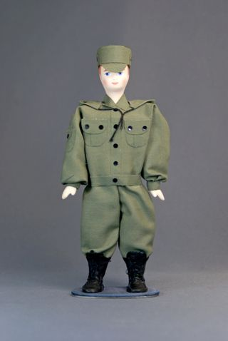Doll gift porcelain. Special forces