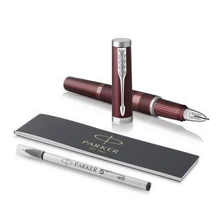 """Handle """"Fifth burner Assembly"""" PARKER """"Ingenuity Deluxe Deep Red PVD"""", case wine red, chrome, black"""