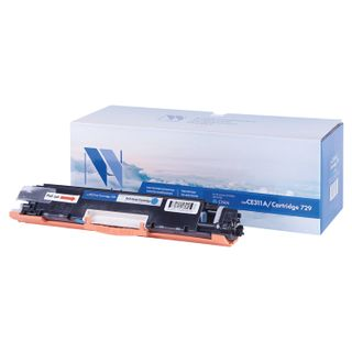 Laser Toner Cartridge NV PRINT (NV-CE311A / 729C) for HP M175nw / CP1025nw / CANON LBP7010C, cyan, yield 1000 pages